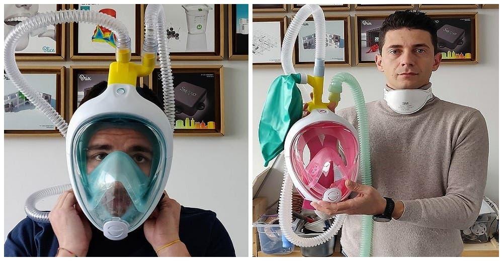 Usan máscaras de buceo para salvar a los pacientes con complicaciones más graves de coronavirus