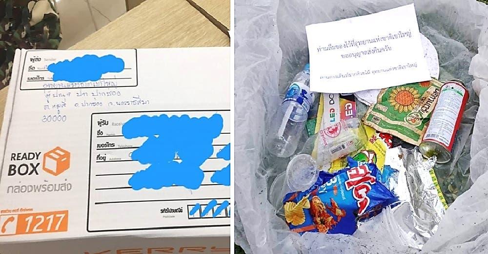 Se quedan desconcertados al recibir cajas llenas de basura y una sanción por correo