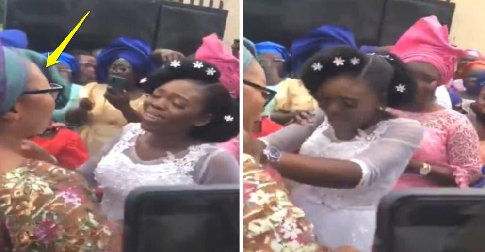 La madre de la novia la hace romper en llanto y deja a todos consternados al salir de la iglesia