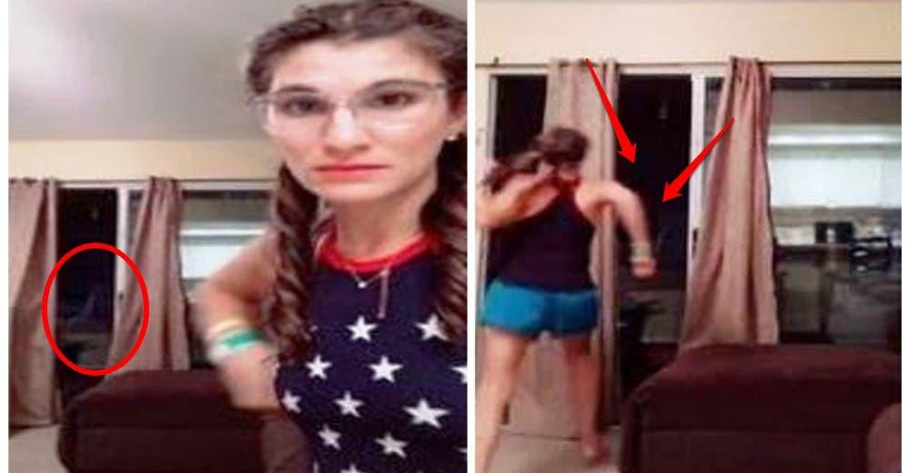 Se alarma por una aparición en su ventana mientras grababa un vídeo e intenta defenderse