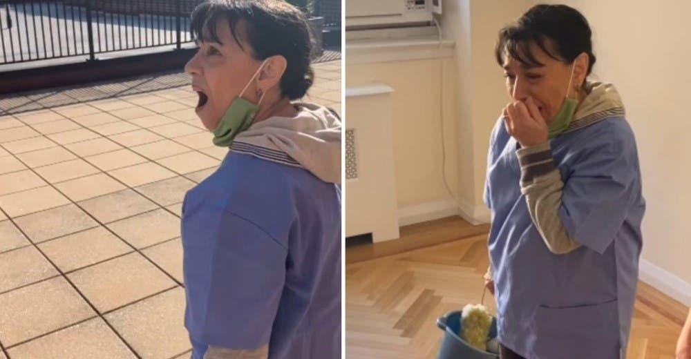 Los vecinos le regalan un apartamento a la humilde empleada de limpieza que perdió su casa