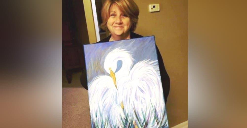 Su hijo difunde una foto suya con el cuadro que pintó y miles de personas le responden