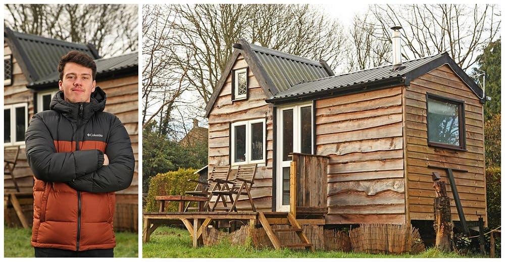 Con 17 años, se construye una casa de madera para nunca pagar alquiler y es le envidia de todos