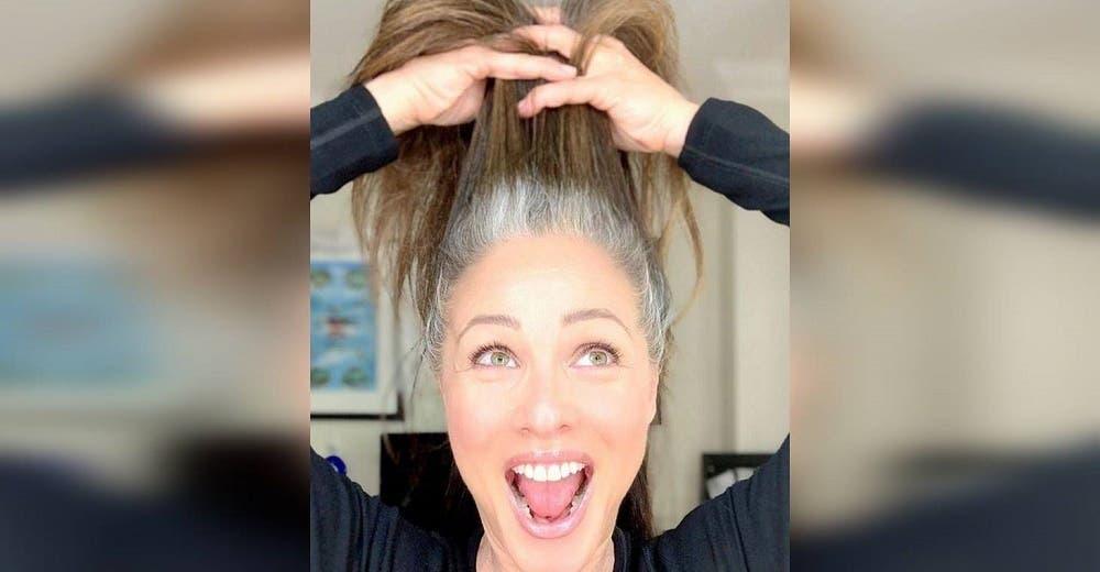 Les responde a quienes la critican por lucir su cabello canoso y dejar de arreglarlo