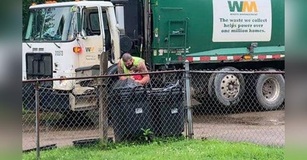 Una madre graba a los recolectores de la basura acercándose a su hijo con autismo cada semana