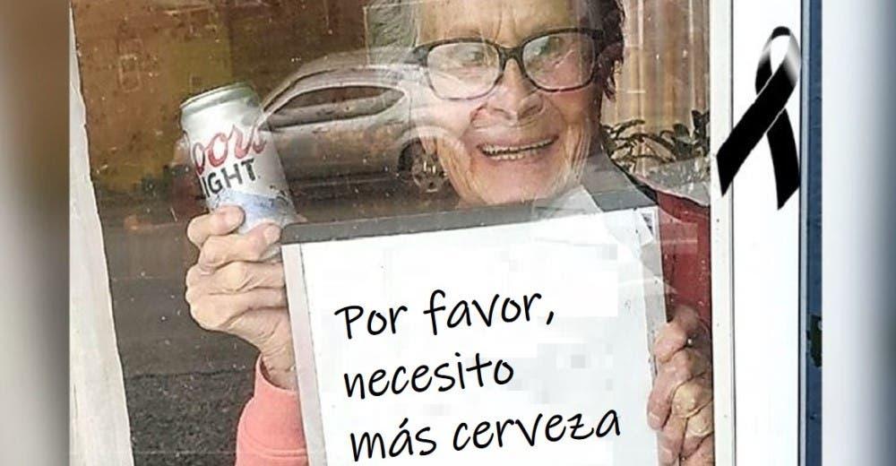 Pierde la vida la abuelita que se hizo viral por pedirle cerveza a sus vecinos cuando no podía salir