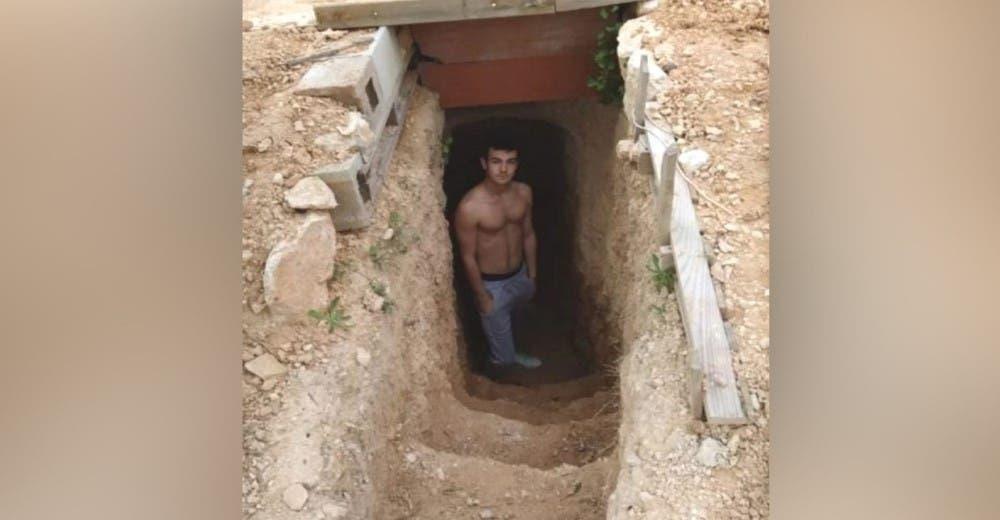 A los 14 años comienza a cavar un pozo y ahora es una «cueva» que tiene todo para vivir