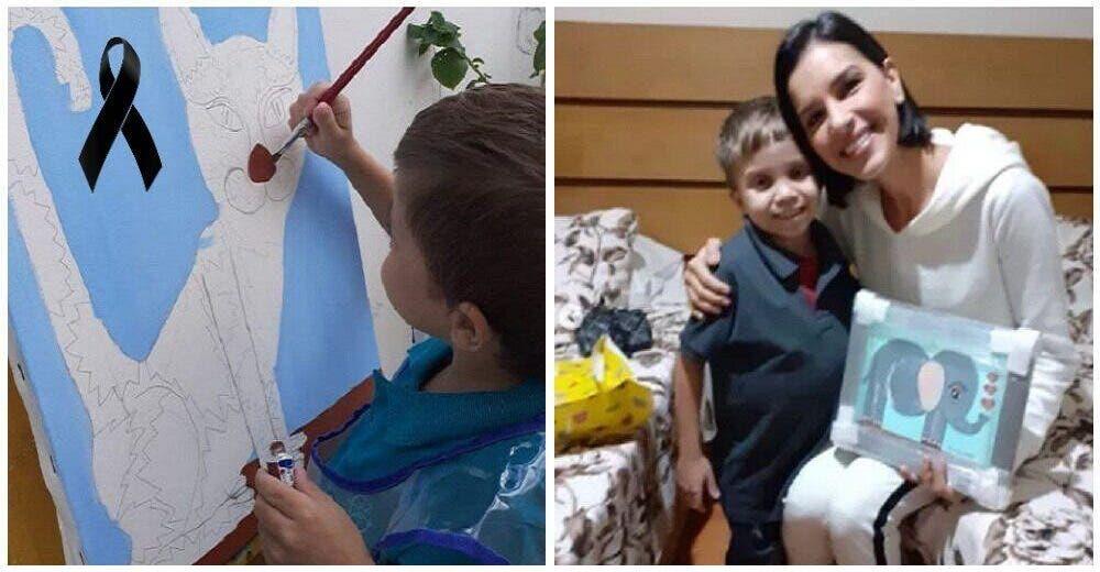 Lloran la partida del niño que vendía los cuadros que pintaba para pagar su tratamiento médico