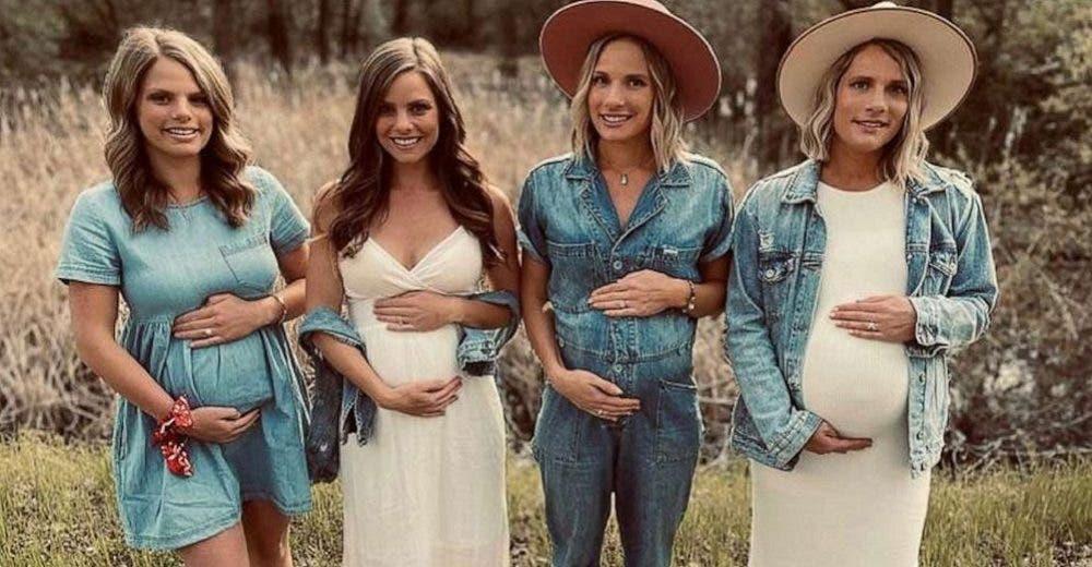 Cuatro hermanas se embarazan simultáneamente sin importar las críticas de la gente