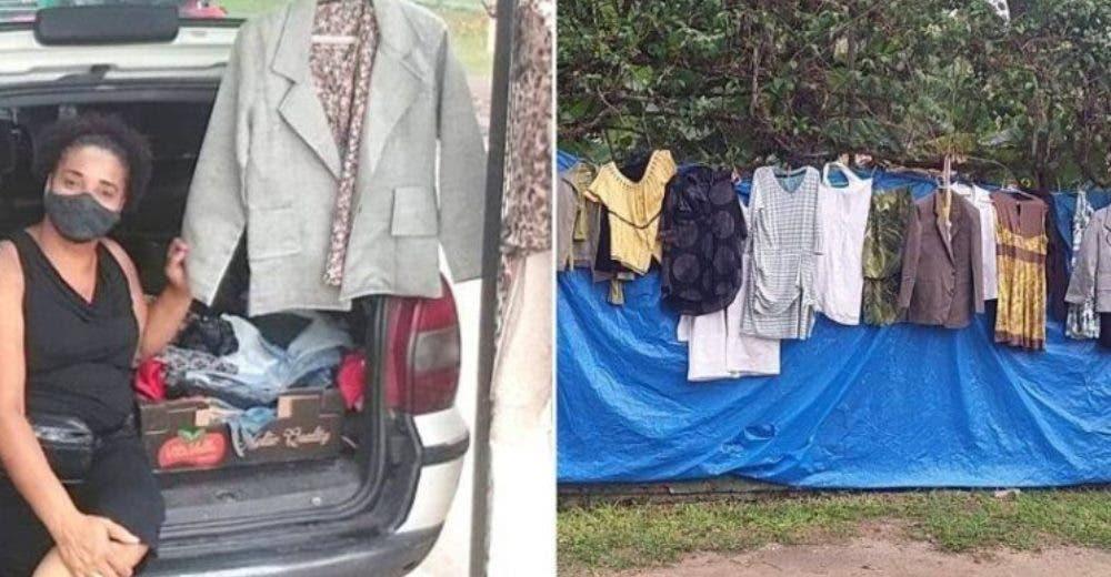 Vende ropa usada en la calle para poder comprarle a su hija el vestido de novia de sus sueños