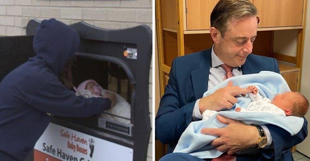 Dejan un bebé en el buzón para recién nacidos abandonados y el alcalde lo acoge en sus brazos