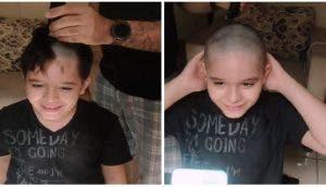 Llama a su mejor amigo con cáncer mientras se rapa el pelo – «Siempre lo hacemos todo juntos»