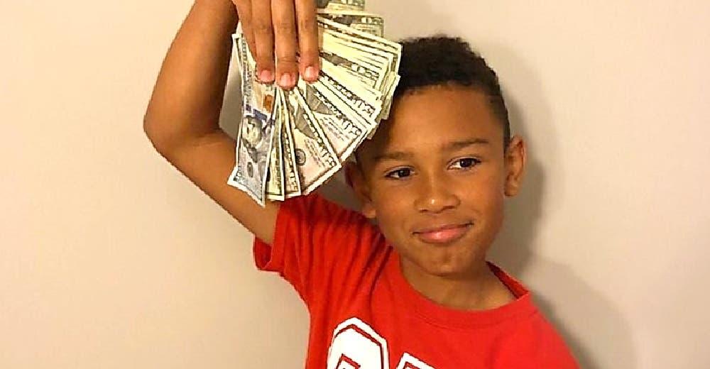 A los 9 años se gana 5.000 dólares «por limpiar un auto» desconcertando a su padre