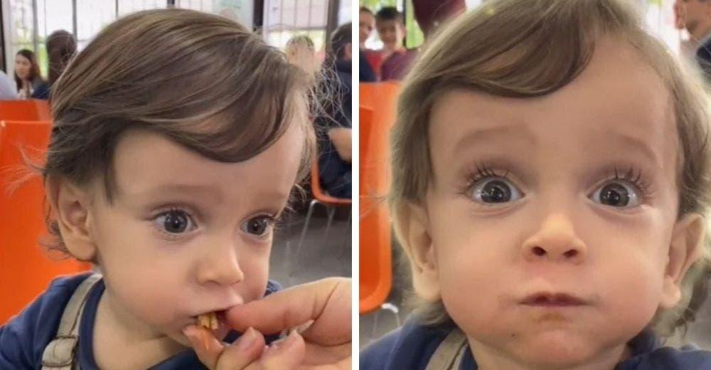 Le da a su bebé un taco mexicano por primera vez para grabar y difundir su impresión