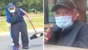 Le regala «la jubilación» al abuelito que vio cansado trabajando bajo el sol