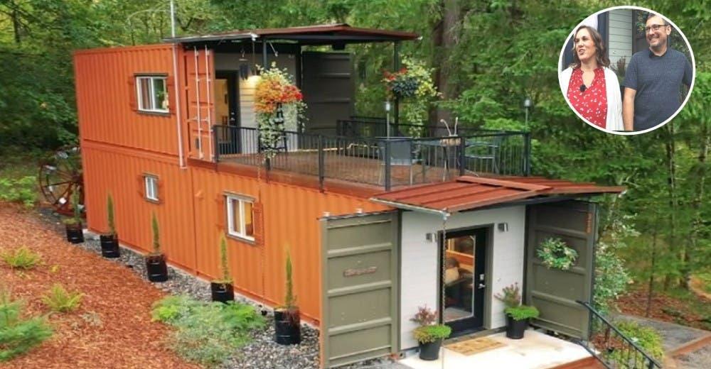 """Una pareja construye su casa usando contenedores para """"por fin vivir sin deudas"""""""