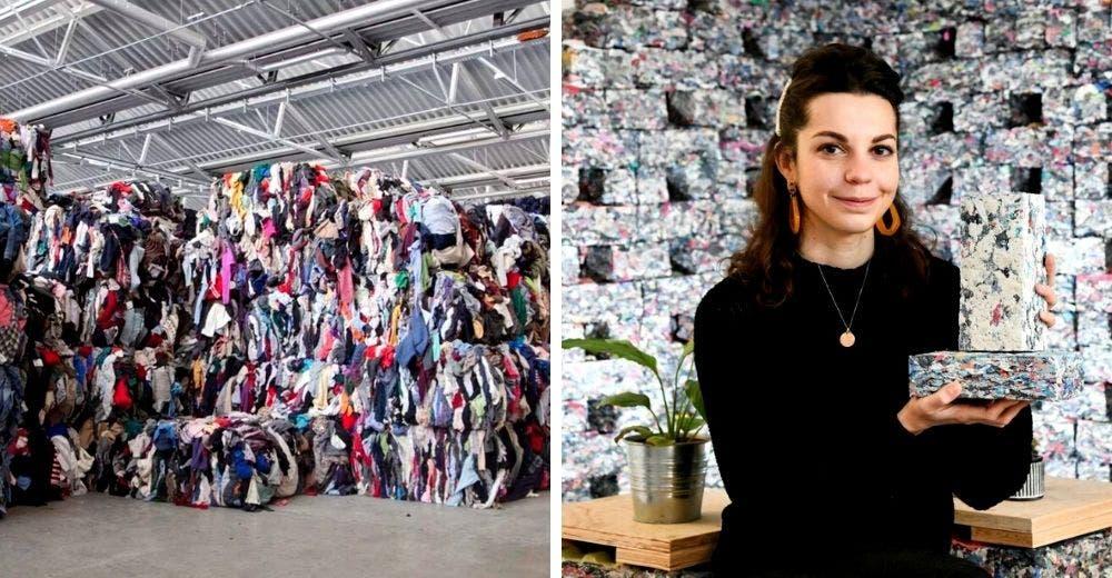 Una joven transforma toneladas de ropa vieja en ladrillos resistentes al fuego