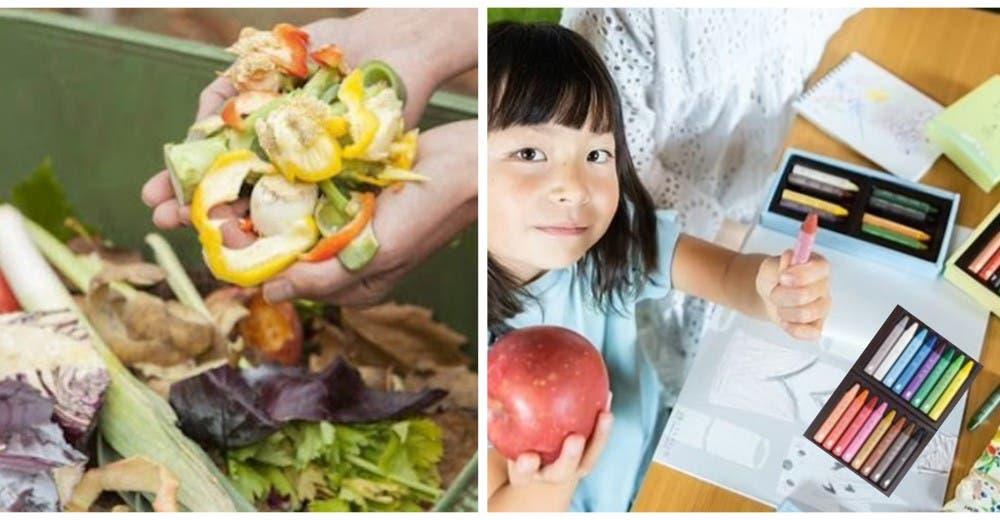 Madre convierte las cáscaras de verduras en crayones orgánicos libres de plomo para niños