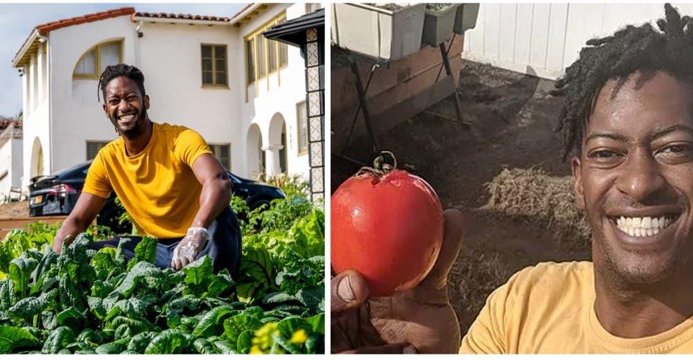 Un joven transforma los jardines de su barrio en huertos urbanos