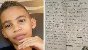 Un niño de 9 años le escribe una carta a su papá policía pidiéndole que se cuide mucho