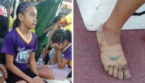 La humilde niña que dibujó unos zapatos en sus pies descalzos para competir ganó 3 medallas