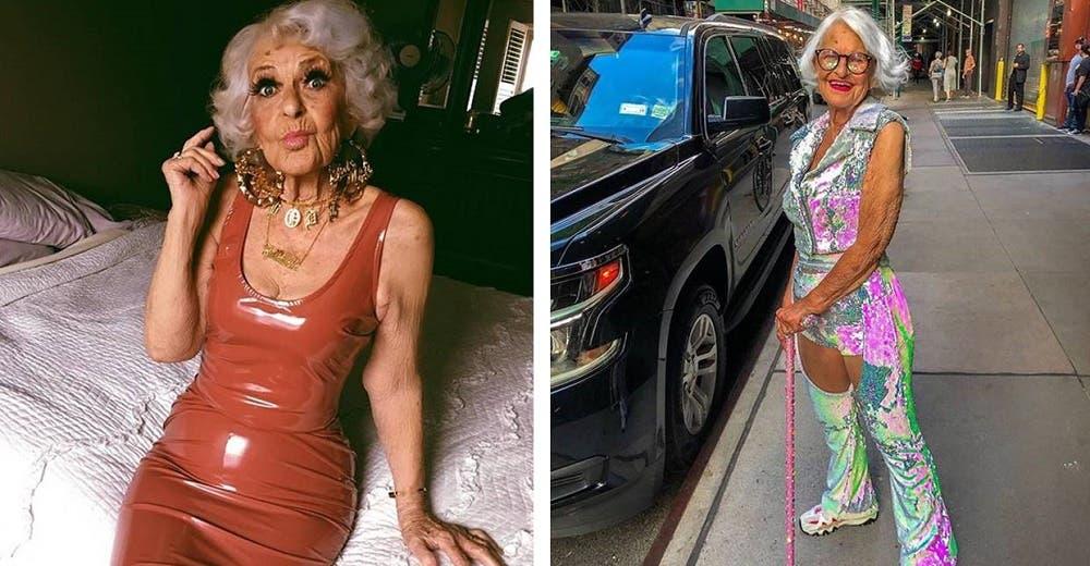 A sus 93 años no le importa lo que digan los demás y se viste como adolescente – «soy rebelde»