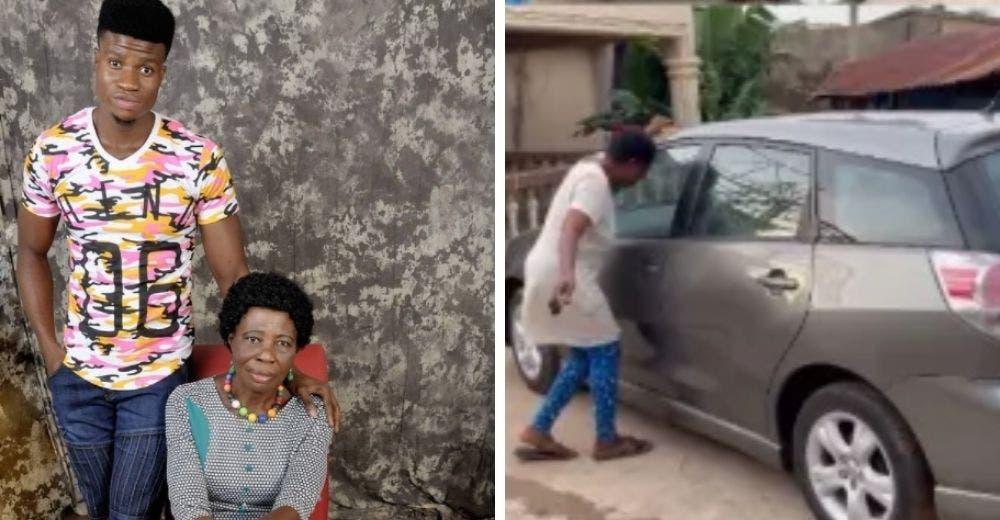 Recompensa a su humilde madre regalándole el auto de sus sueños por haberlo apoyado siempre