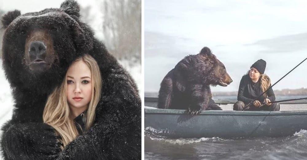 Rescata a un oso abandonado cuando era un cachorro y ahora pescan juntos